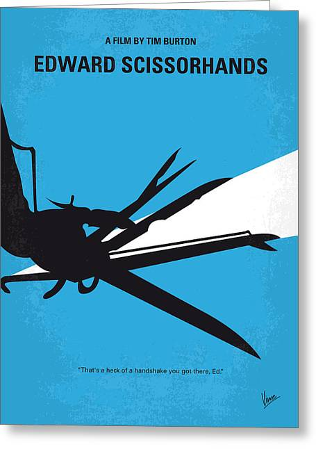 No260 My Scissorhands Minimal Movie Poster Greeting Card by Chungkong Art