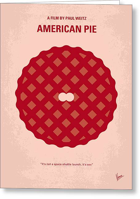 No262 My American Pie Minimal Movie Poster Greeting Card