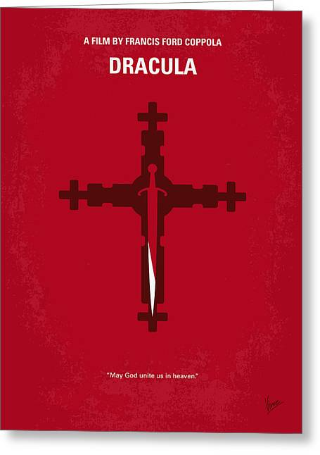 No263 My Dracula Minimal Movie Poster Greeting Card by Chungkong Art