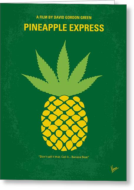 No264 My Pineapple Express Minimal Movie Poster Greeting Card by Chungkong Art