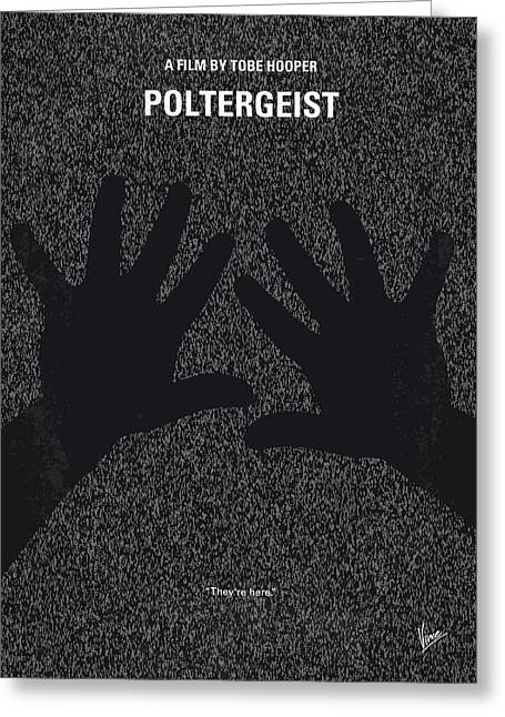 No266 My Poltergeist Minimal Movie Poster Greeting Card by Chungkong Art