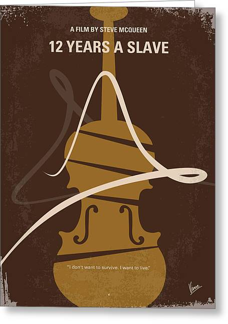 No268 My 12 Years A Slave Minimal Movie Poster Greeting Card by Chungkong Art