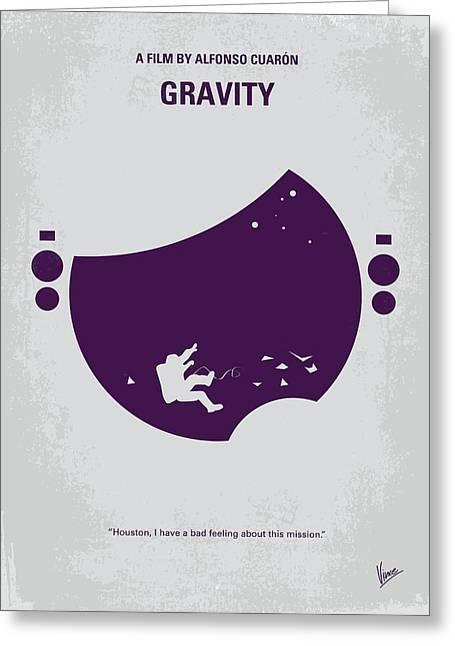 No269 My Gravity Minimal Movie Poster Greeting Card by Chungkong Art