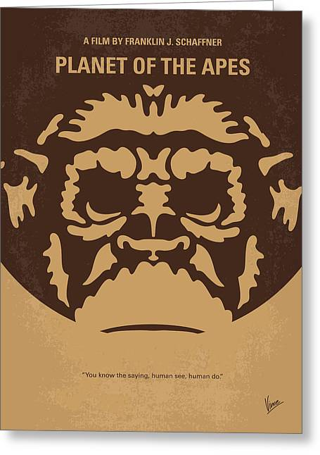 No270 My Planet Of The Apes Minimal Movie Poster Greeting Card by Chungkong Art