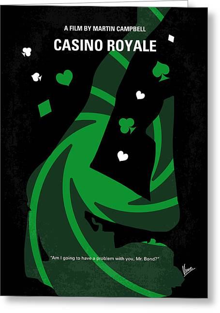 No277-007-2 My Casino Royale Minimal Movie Poster Greeting Card by Chungkong Art