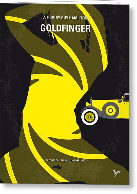 No277-007 My Goldfinger Minimal Movie Poster Greeting Card by Chungkong Art