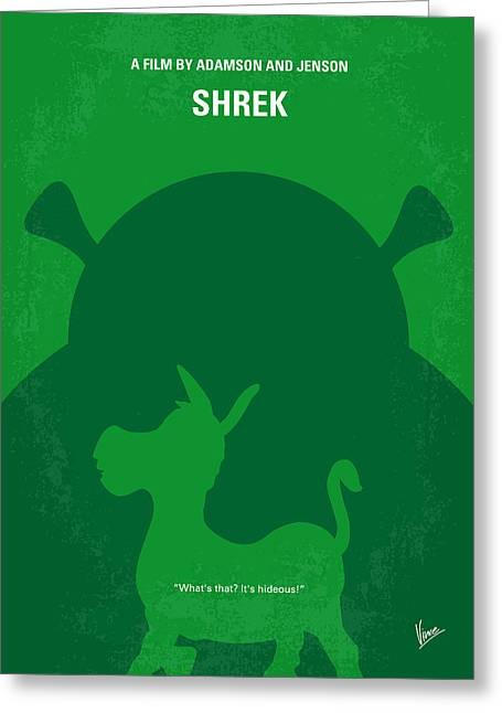 No280 My Shrek Minimal Movie Poster Greeting Card by Chungkong Art