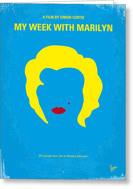 No284 My Week With Marilyn Minimal Movie Poster Greeting Card by Chungkong Art