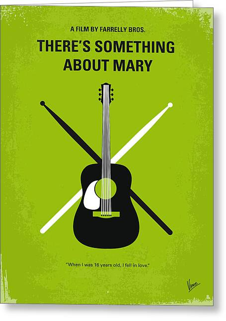 No286 My There's Something About Mary Minimal Movie Poster Greeting Card by Chungkong Art