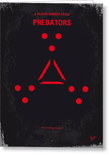 No289 My Predators Minimal Movie Poster Greeting Card