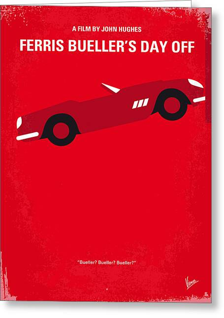 No292 My Ferris Bueller's Day Off Minimal Movie Poster Greeting Card by Chungkong Art