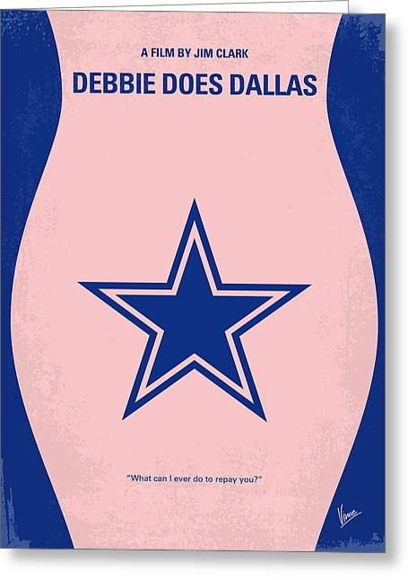 No302 My Debbie Does Dallas Minimal Movie Poster Greeting Card by Chungkong Art