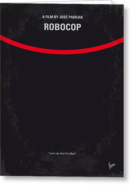 No303 My Robocop Minimal Movie Poster Greeting Card by Chungkong Art
