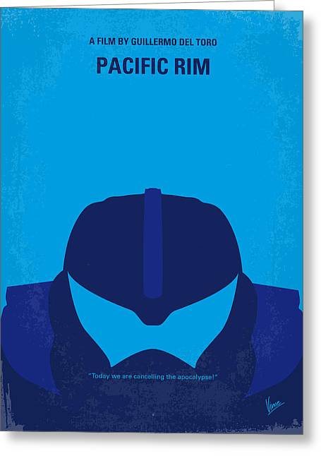 No306 My Pacific Rim Minimal Movie Poster Greeting Card