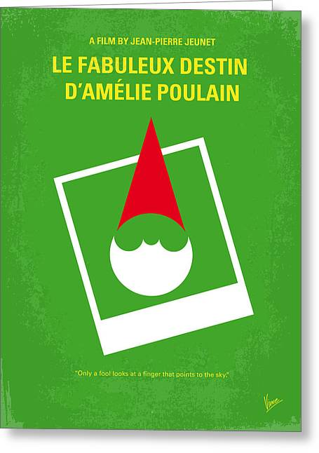 No311 My Amelie Minimal Movie Poster Greeting Card