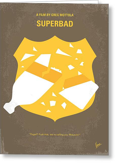 No315 My Superbad Minimal Movie Poster Greeting Card by Chungkong Art