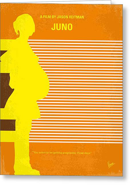 No326 My Juno Minimal Movie Poster Greeting Card by Chungkong Art