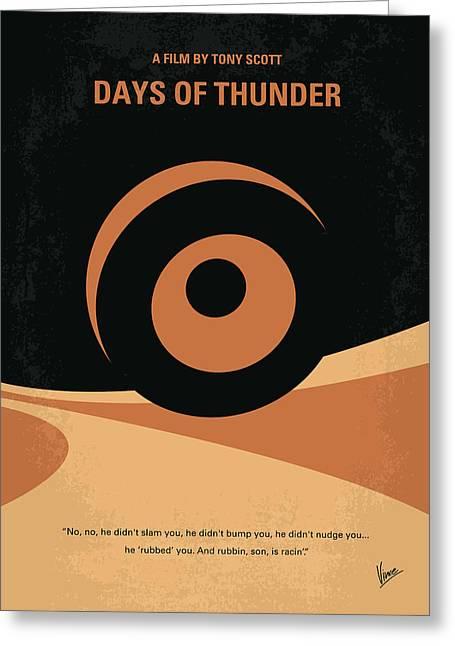 No332 My Days Of Thunder Minimal Movie Poster Greeting Card by Chungkong Art