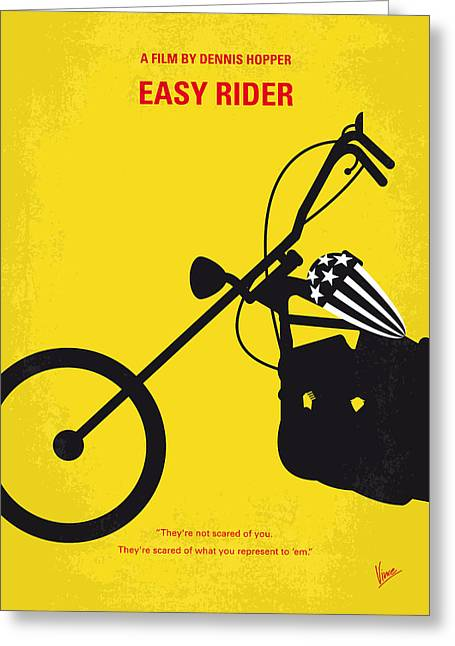No333 My Easy Rider Minimal Movie Poster Greeting Card by Chungkong Art