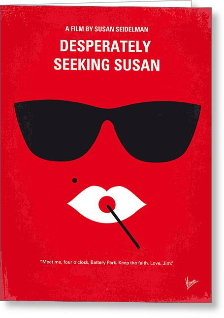 No336 My Desperately Seeking Susan Minimal Movie Poster Greeting Card