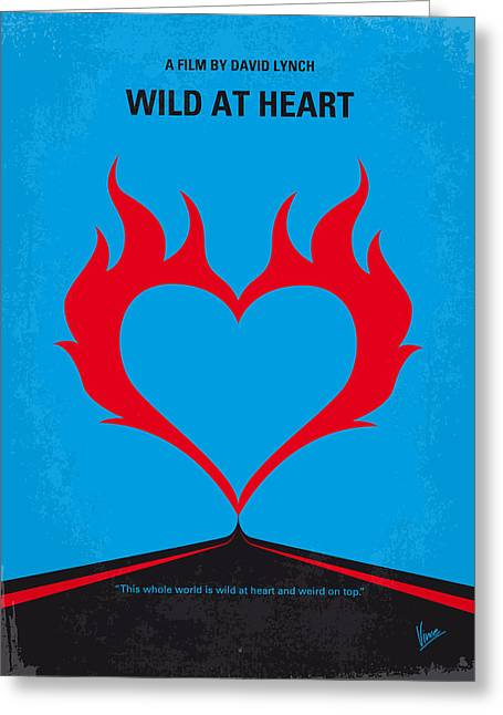 No337 My Wild At Heart Minimal Movie Poster Greeting Card