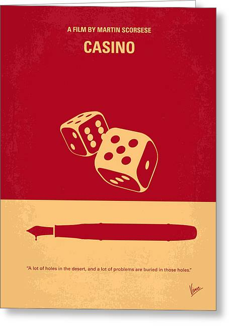 No348 My Casino Minimal Movie Poster Greeting Card by Chungkong Art