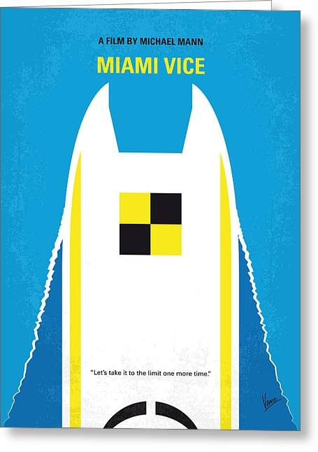 No351 My Miami Vice Minimal Movie Poster Greeting Card by Chungkong Art