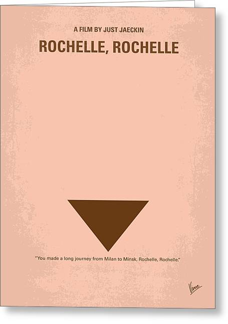 No354 My Rochelle Rochelle Minimal Movie Poster Greeting Card by Chungkong Art