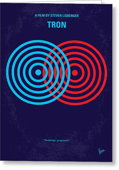 No357 My Tron Minimal Movie Poster Greeting Card