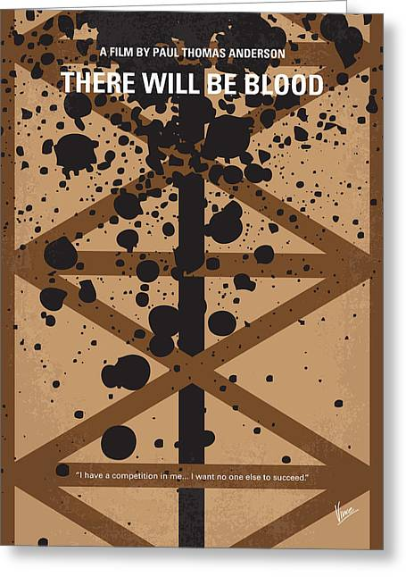 No358 My There Will Be Blood Minimal Movie Poster Greeting Card
