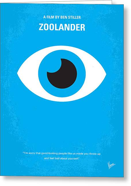 No362 My Zoolander Minimal Movie Poster Greeting Card