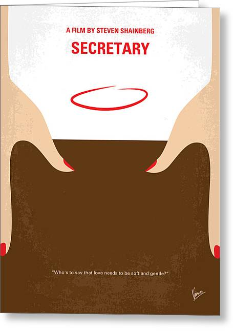No371 My Secretary Minimal Movie Poster Greeting Card