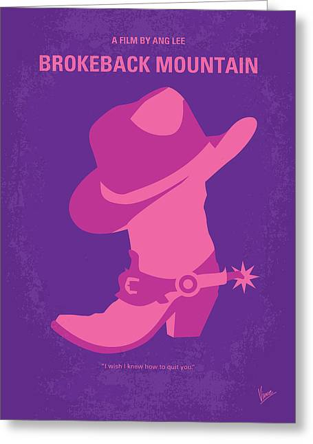 No369 My Brokeback Mountain Minimal Movie Poster Greeting Card by Chungkong Art