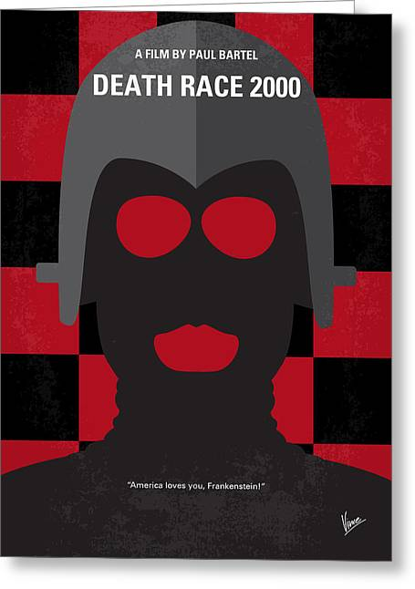 No367 My Death Race 2000 Minimal Movie Poster Greeting Card by Chungkong Art