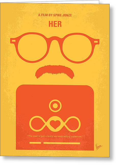 No372 My Her Minimal Movie Poster Greeting Card