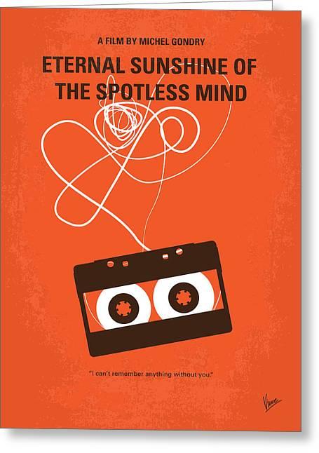 No384 My Eternal Sunshine Of The Spotless Mind Minimal Movie Pos Greeting Card