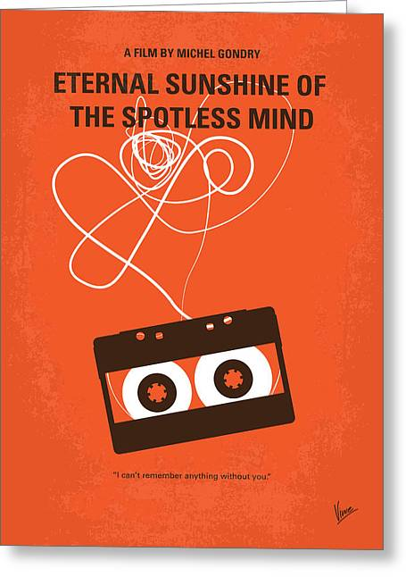 No384 My Eternal Sunshine Of The Spotless Mind Minimal Movie Pos Greeting Card