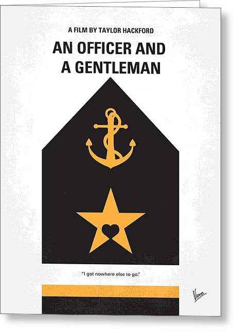 No388 My An Officer And A Gentleman Minimal Movie Poster Greeting Card by Chungkong Art