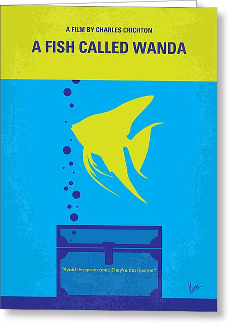 No389 My A Fish Called Wanda Minimal Movie Poster Greeting Card by Chungkong Art