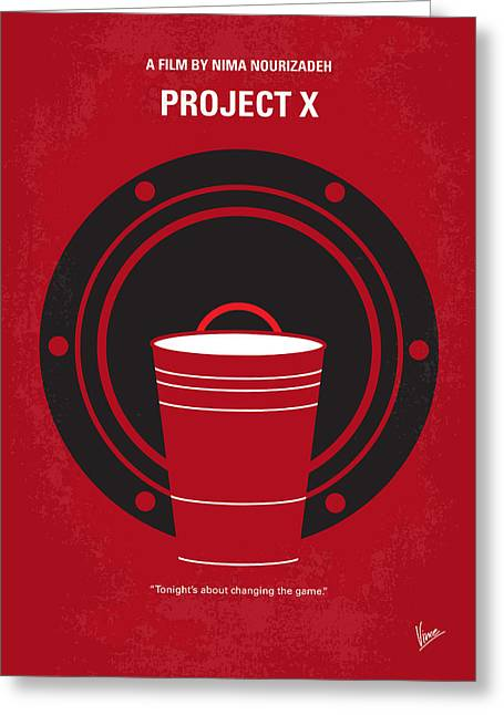 No393 My Project X Minimal Movie Poster Greeting Card