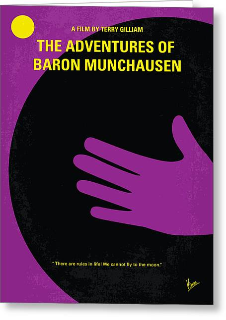 No399 My Baron Von Munchhausen Minimal Movie Poster Greeting Card