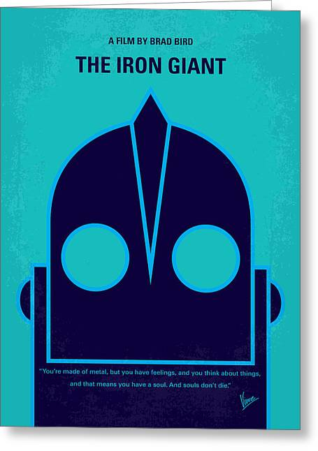 No406 My The Iron Giant Minimal Movie Poster Greeting Card by Chungkong Art