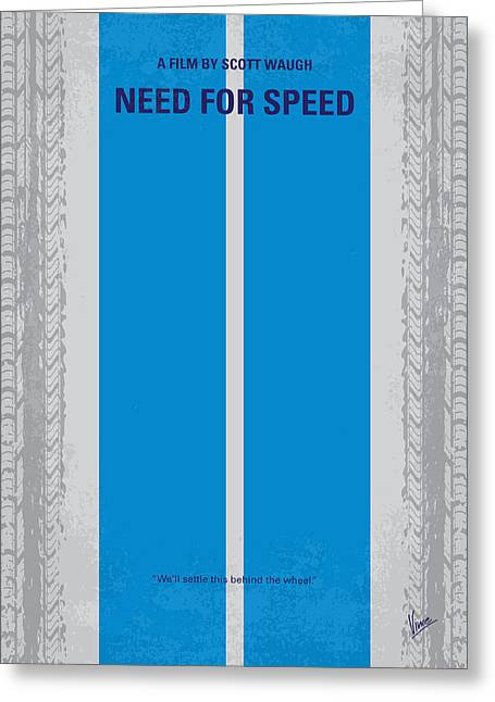 No407 My Need For Speed Minimal Movie Poster Greeting Card by Chungkong Art