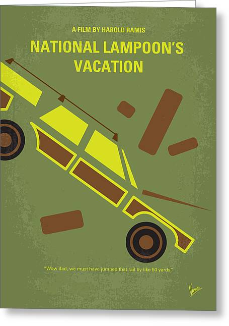 No412 My National Lampoons Vacation Minimal Movie Poster Greeting Card by Chungkong Art