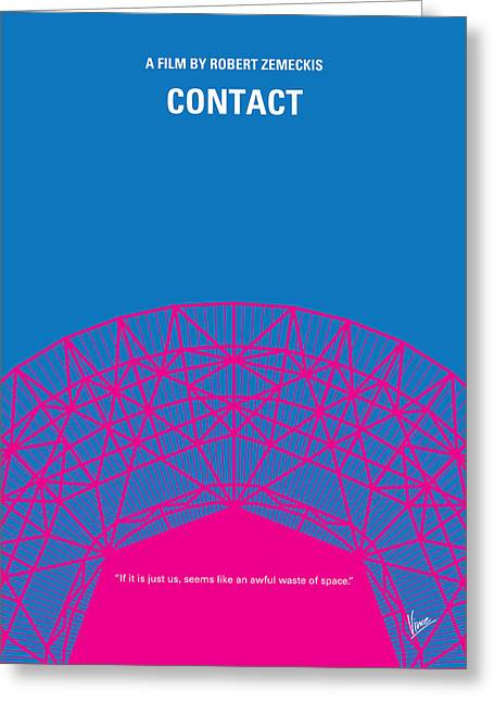 No416 My Contact Minimal Movie Poster Greeting Card