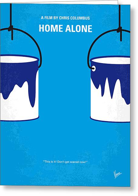 No427 My Home Alone Minimal Movie Poster Greeting Card by Chungkong Art