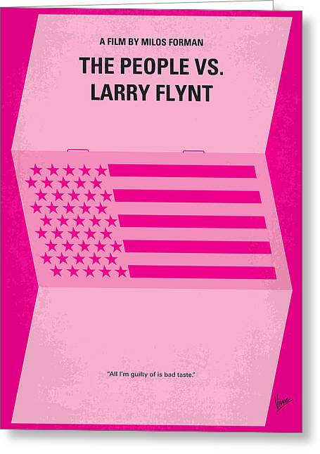 No395 My The People Vs Larry Flint Minimal Movie Poster Greeting Card by Chungkong Art