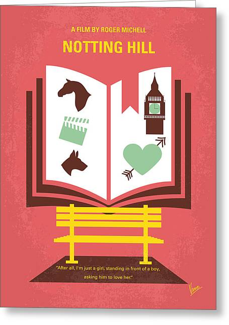 No434 My Notting Hill Minimal Movie Poster Greeting Card