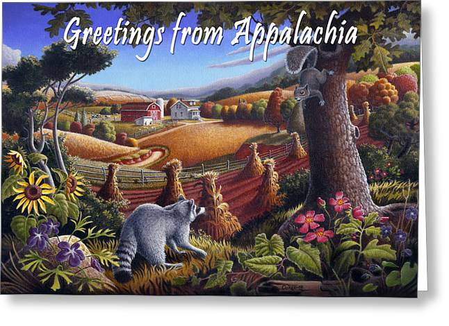 no6 Greetings from Appalachia Greeting Card by Walt Curlee
