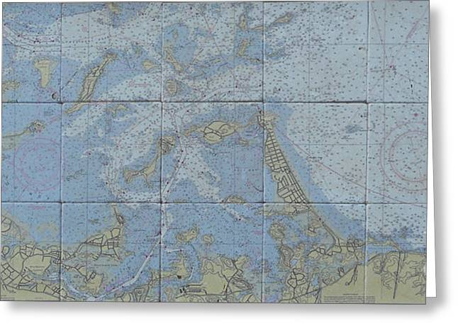 Noaa Chart Of Boston Harbor  Greeting Card